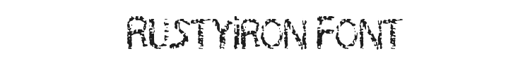 RustyIron Font Preview