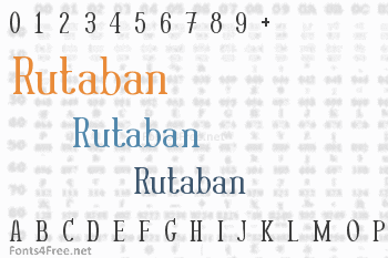 Rutaban Font