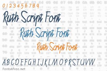 Ruth Script Font