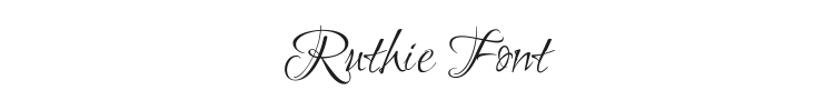 Ruthie Font Preview