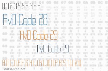 RvD Code 28 Font