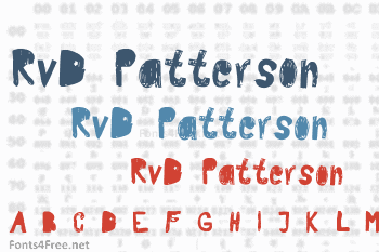 RvD Patterson Font