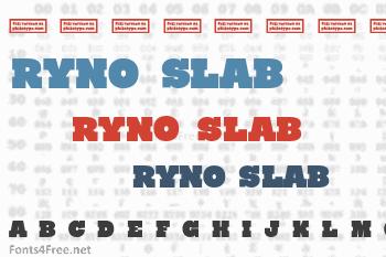 Ryno Slab Font