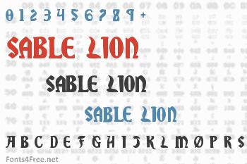Sable Lion Font