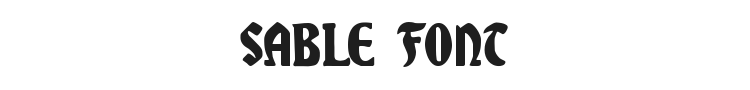 Sable Font Preview