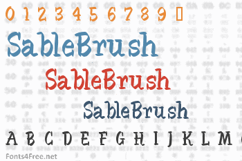 SableBrush Font