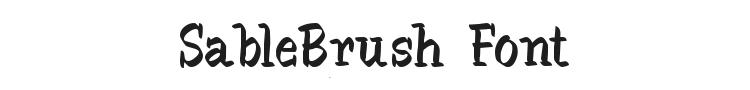SableBrush Font Preview