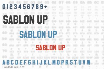 Sablon Up Font