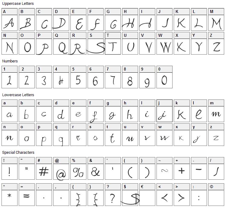 Sabrina Movie Font Character Map