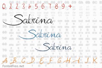 Sabrina Movie Font