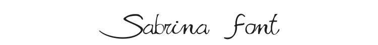 Sabrina Movie Font Preview