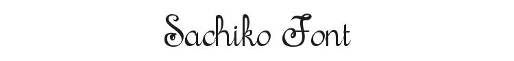 Sachiko Font Preview