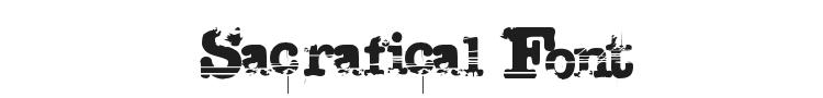Sacrafical Font