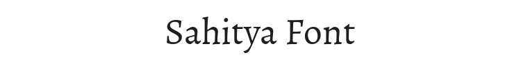 Sahitya Font