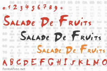 Salade De Fruits Font