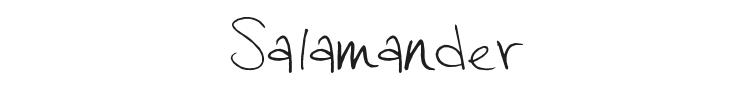 Salamander Font Preview