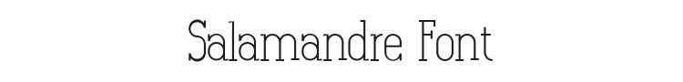 Salamandre Font Preview