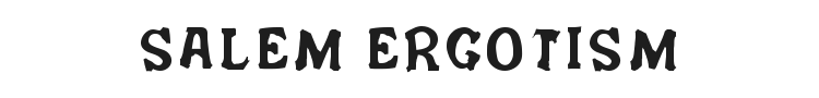 Salem Ergotism Font