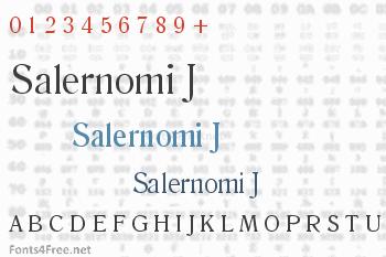 Salernomi J Font