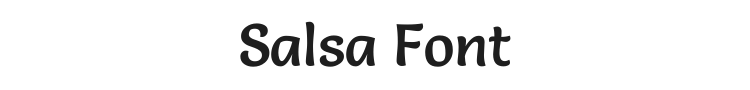 Salsa Font Preview