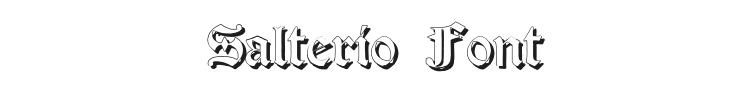 Salterio Font Preview