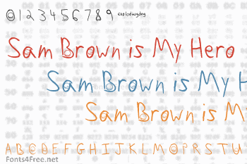 Sam Brown is My Hero Font