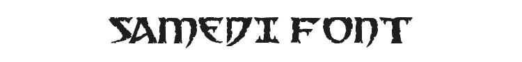 Samedi Font Preview