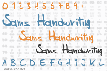 Sams Handwriting Font