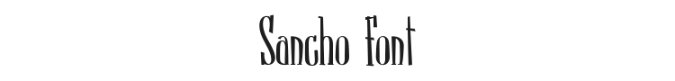 Sancho Font Preview