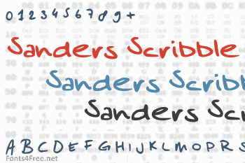 Sanders Scribble Font