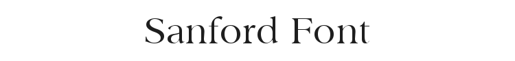 Sanford Font Preview