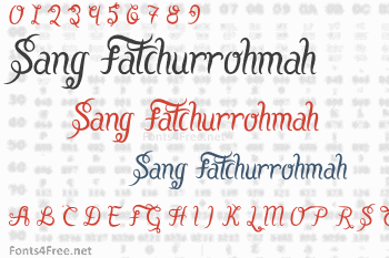 Sang Fatchurrohmah Font