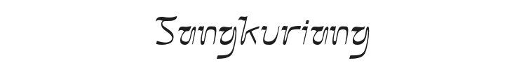 Sangkuriang Font Preview