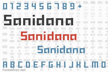 Sanidana Font