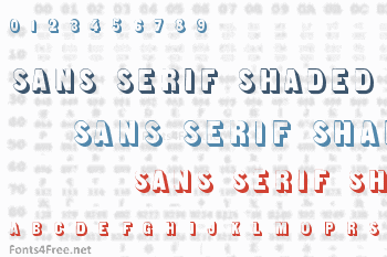 Sans Serif Shaded Font