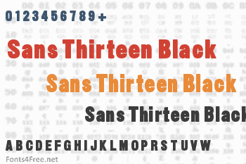 Sans Thirteen Black Font