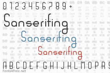 Sanserifing Font