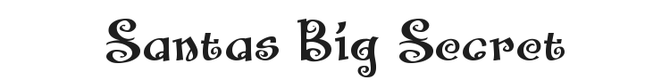 Santas Big Secret Font Preview