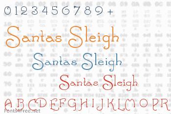 Santas Sleigh Font