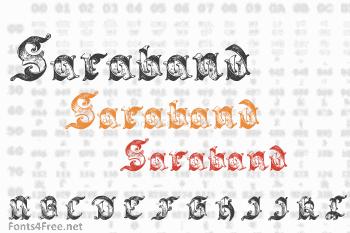 Saraband Font