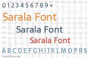 Sarala Font
