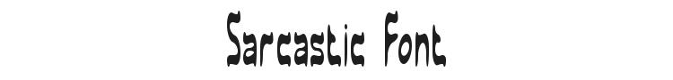 Sarcastic Font Preview