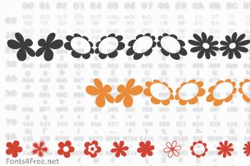 Sarus Flower Ding Font