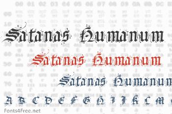 Satanas Humanum Salvator Font