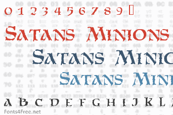 Satans Minions Font