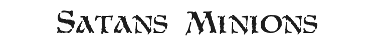Satans Minions Font Preview