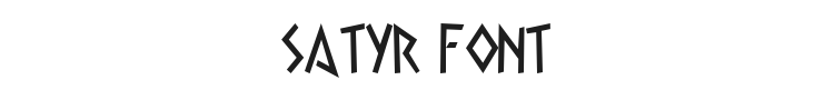 Satyr Font Preview
