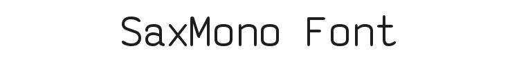SaxMono Font Preview