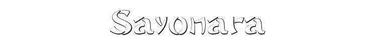 Sayonara Font Preview