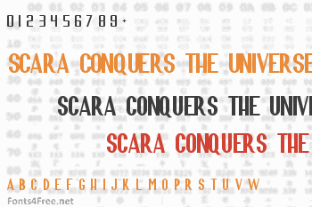 Scara Conquers the Universe Font